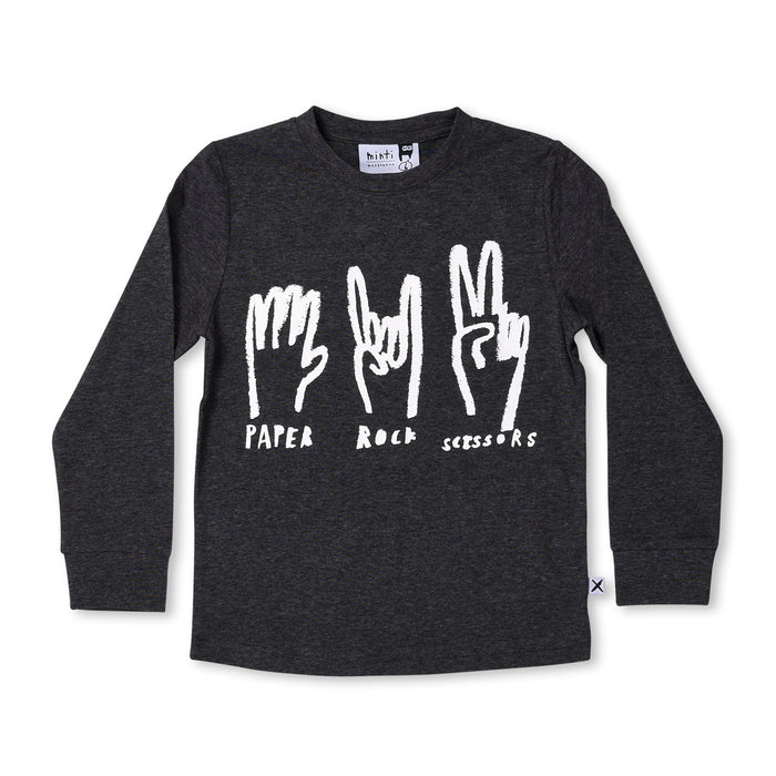 Minti Paper Rock Scissors Tee (Black Motley)