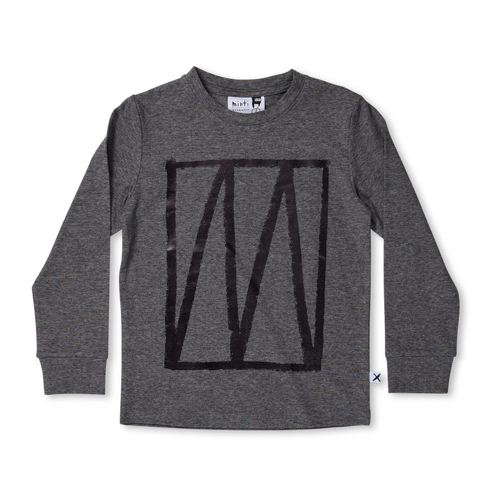Minti Stamp Tee (Dark Grey Motley)