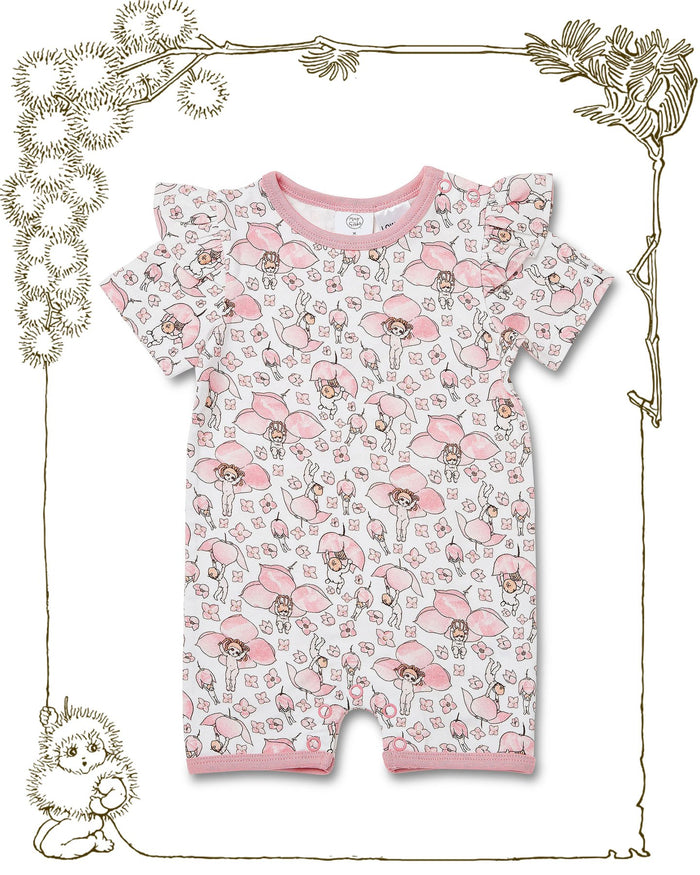 Walnut + May Gibbs Rose Onesie (Boronia Baby)
