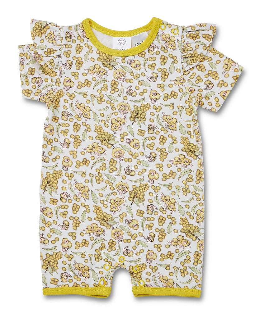 Walnut + May Gibbs Rose Onesie (Wattle Baby)