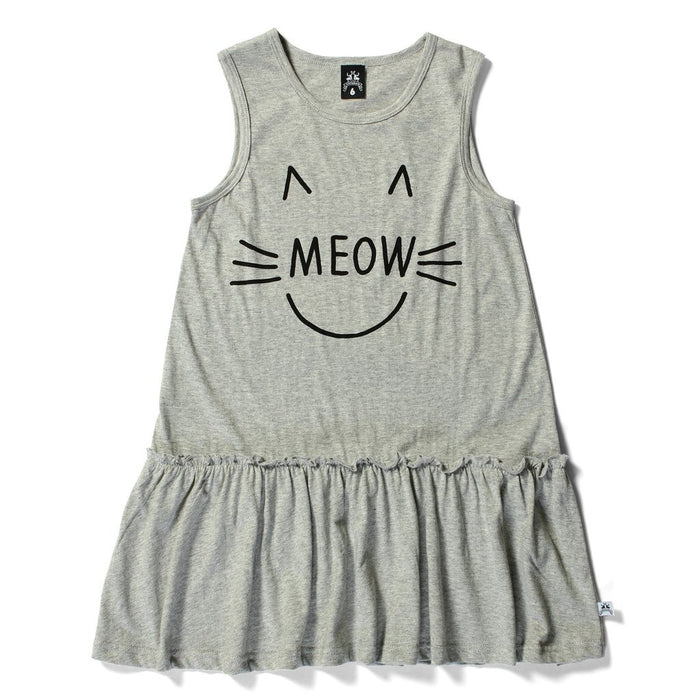 Littlehorn Meow Day Dress (Grey Marle)