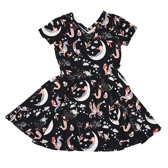 Rock Your Kid Mermaid Lullaby - SS Dress