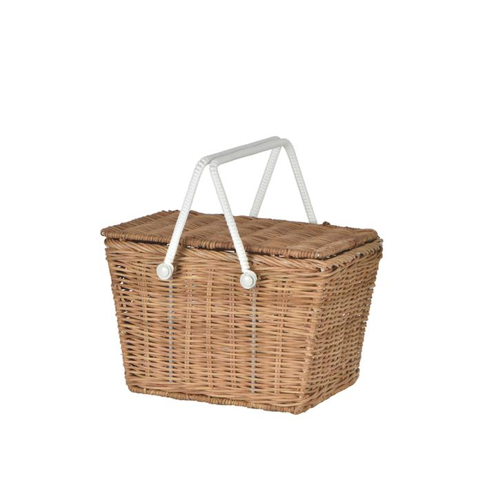 Olli Ella Kids Piki Picnic Basket (Natural)