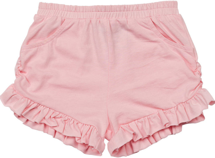 Little Wings Frilled Jersey Shorts (Pale Pink)