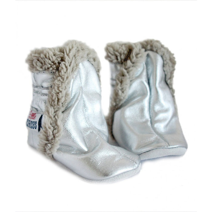 Little Circus Fur Boot (Silver)