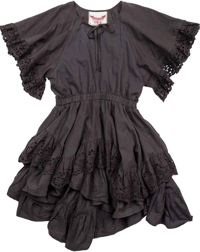 Paper Wings Frilled Lace Swing Dress