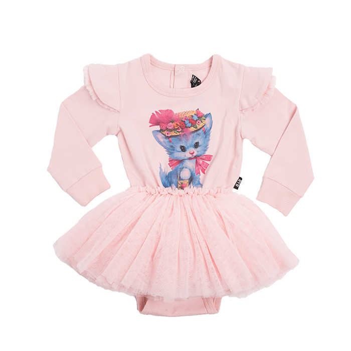 Rock Your Baby Pretty Kitty LS Circus Dress