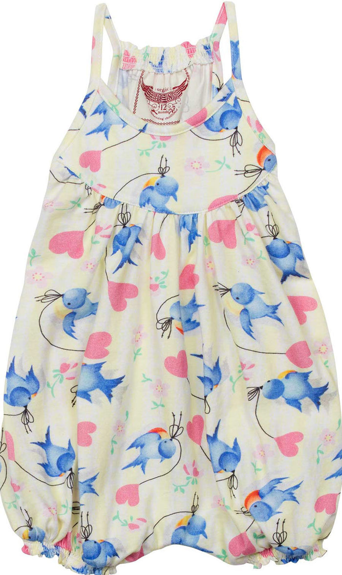 Little Wings Harem Romper - Bluebirds