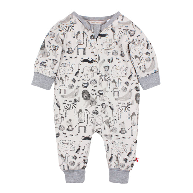 Fox & Finch Zoology Print L/S Romper