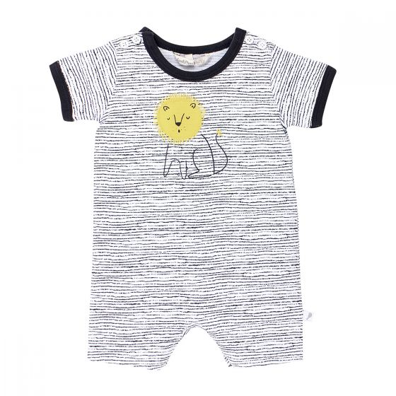 Fox & Finch Safari Stripe Lion Romper