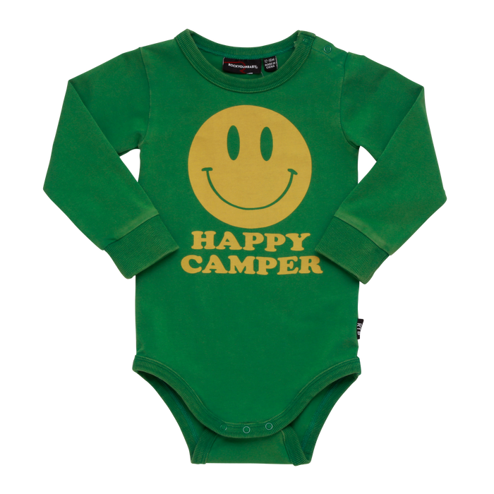 RYB Happy Camper L/S Bodysuit (Green)