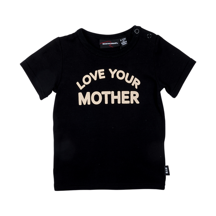 RYB Love Your Mother Baby SS T-Shirt (Black)