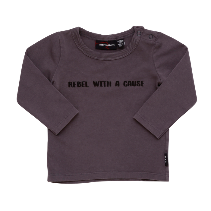 RYB Rebel With A Cause L/S T-Shirt (Grey Wash)