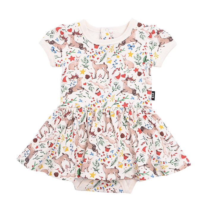 Rock Your Baby Xmas - SS Waisted Dress