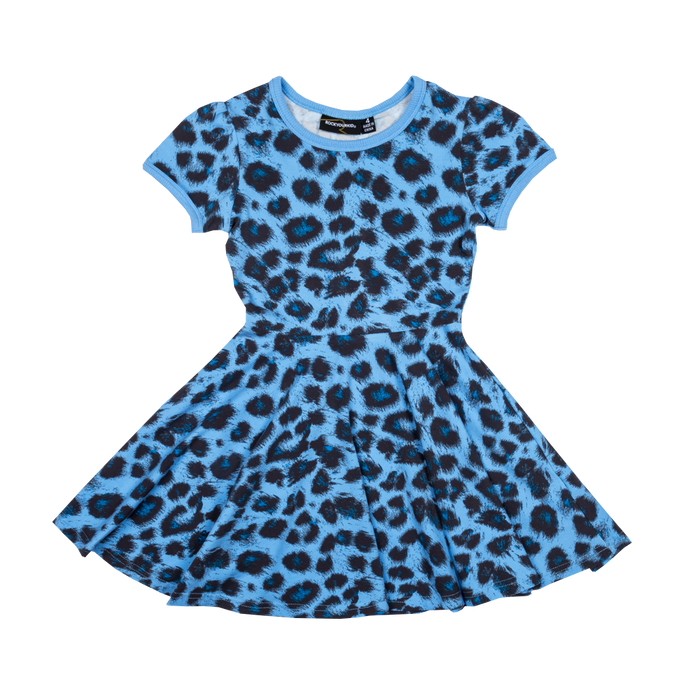 RYK Blue Leopard Waisted Dress