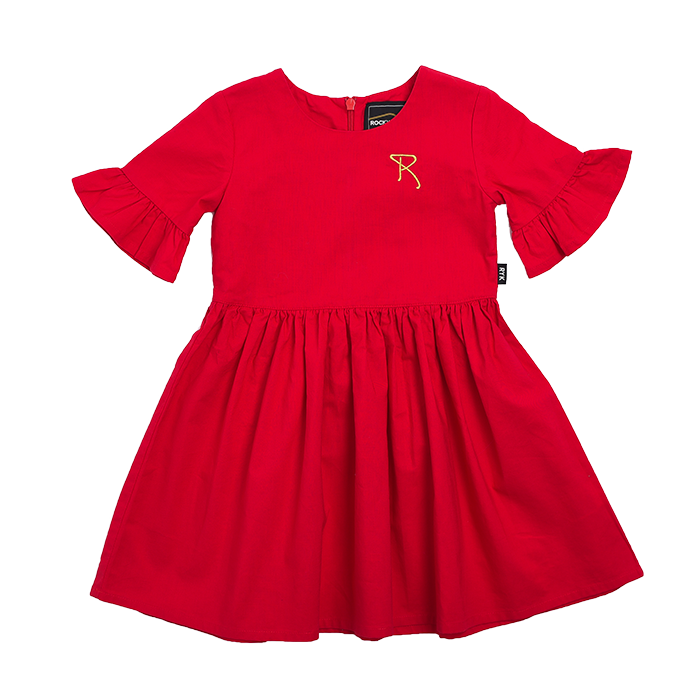Rock Your Kid Frill Sleeve Dress