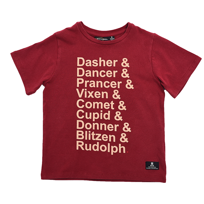 Rock Your Kid Reindeer List - SS T-Shirt