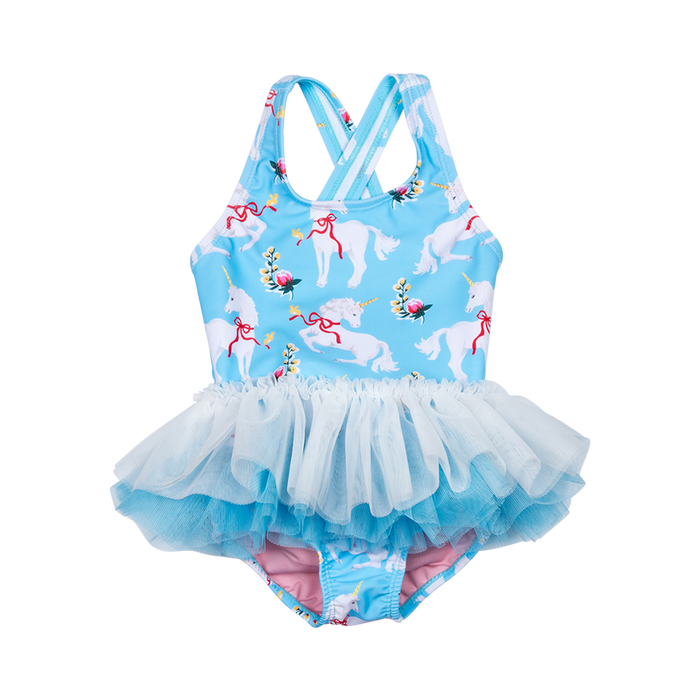 RYK White Unicorns Tulle One Piece