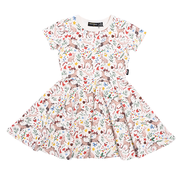 Rock Your Kid Xmas - SS Waisted Dress