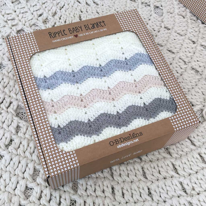 OB Ripple Blanket - Stripe Blue