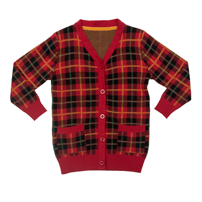 RYB Tartan True Knit Cardigan (Red)