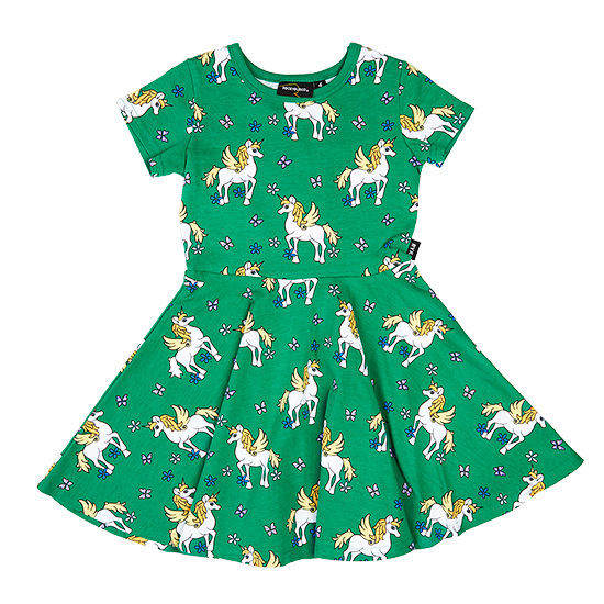 Rock Your Kid Unicorn - SS Waisted Dress