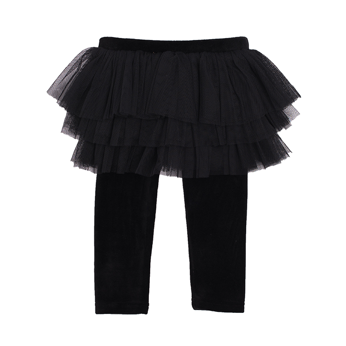 Rock Your Baby Velvet Circus Tights (Black)