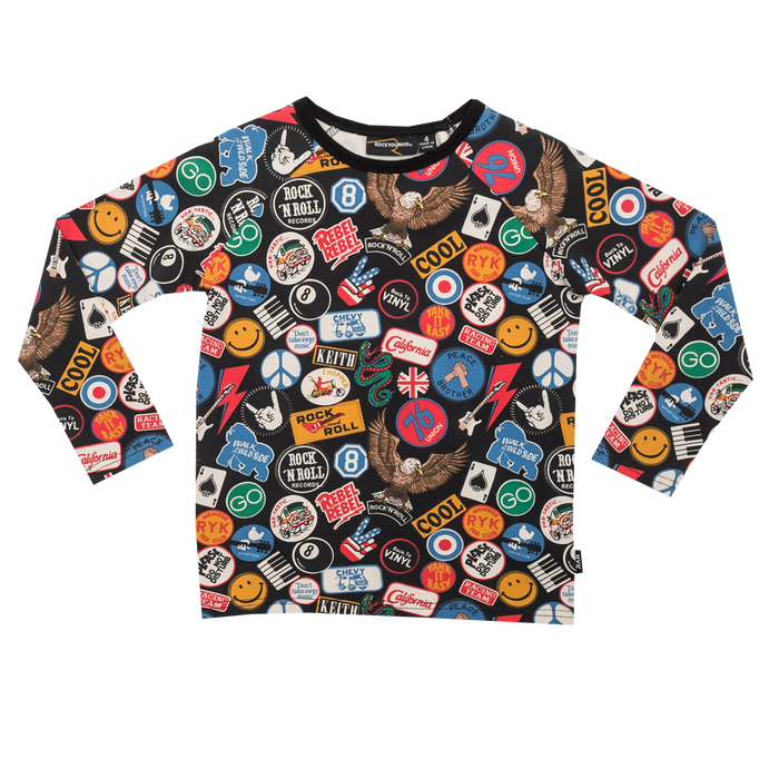 RYB Vintage Patches LS T-Shirt (Blk)