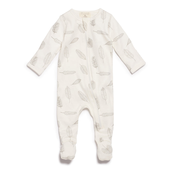 Wilson & Frenchy Tiny Leaf Zipsuit