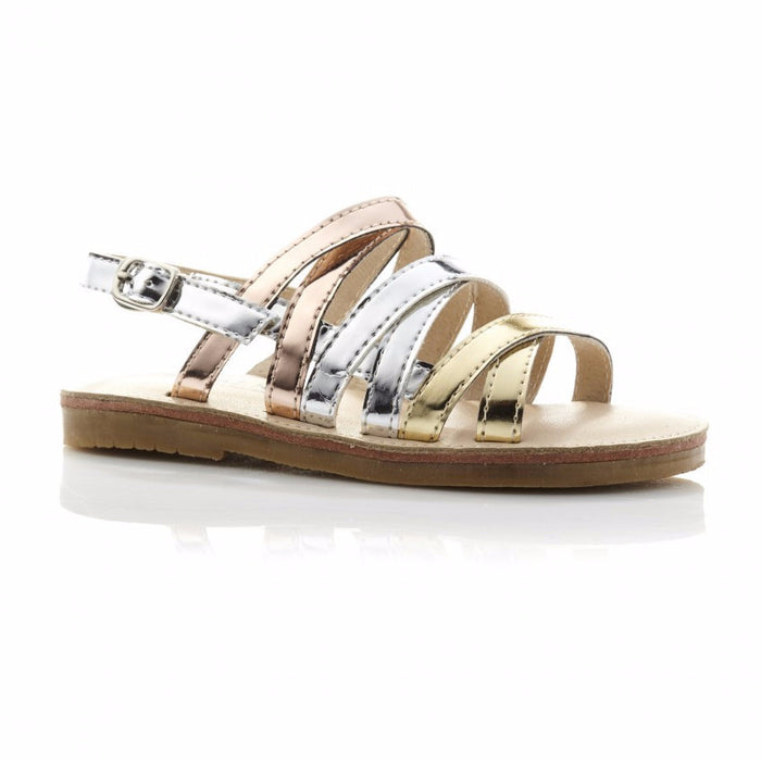 Walnut Ariel Sandal (Multi Metallic)