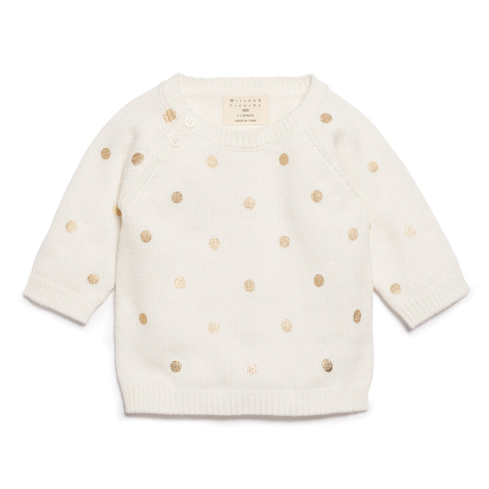 Wilson & Frenchy Little Polkadot Knitted Jumper