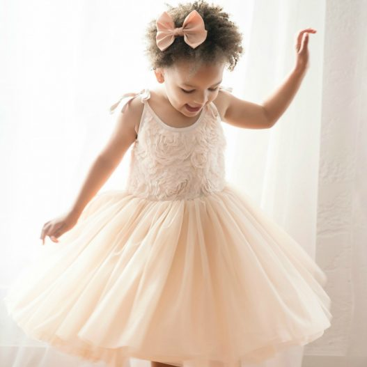 GMP Bed of Roses Tutu Dress (Cream)