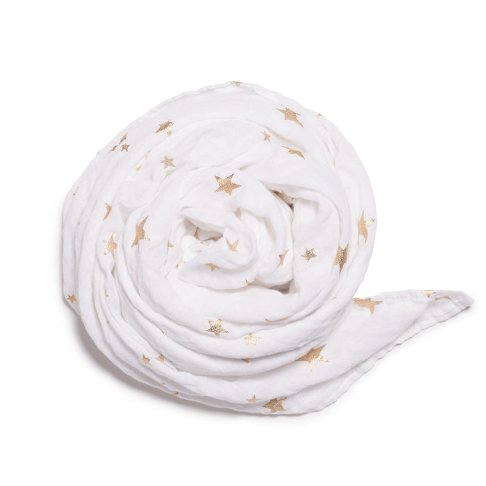 Wilson & Frenchy White Star Bright Muslin Wrap