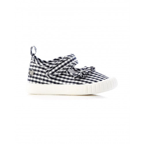 Walnut Classic MJ Frill (Navy White Gingham)
