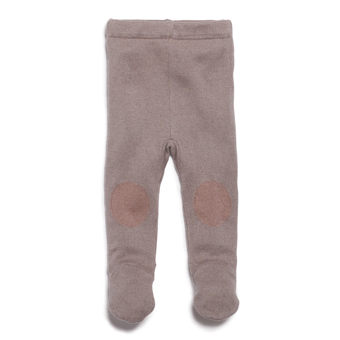 Wilson & Frenchy Smoke Grey Knitted Legging With Feet