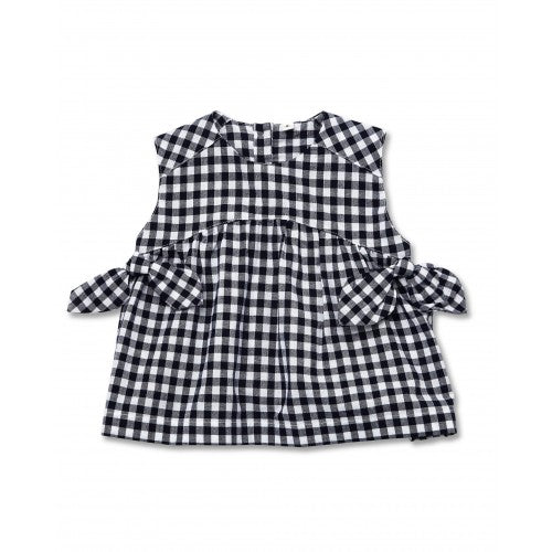Walnut Harriet Bow Top (Navy White Gingham)