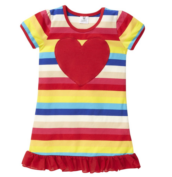Hootkid The New Rainbow Dress - Rainbow Stripe