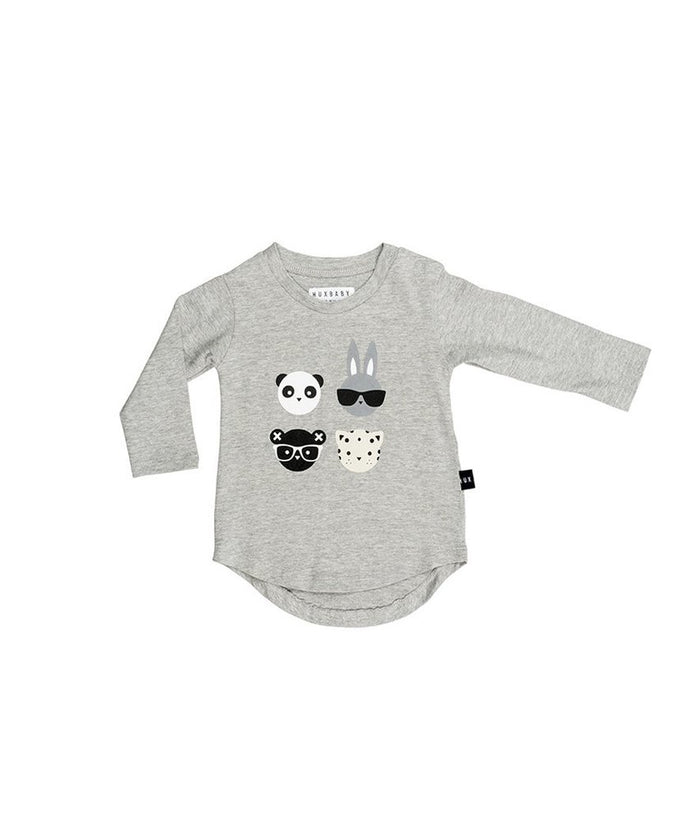 Huxbaby 4 Long Sleeve Top Grey Marle