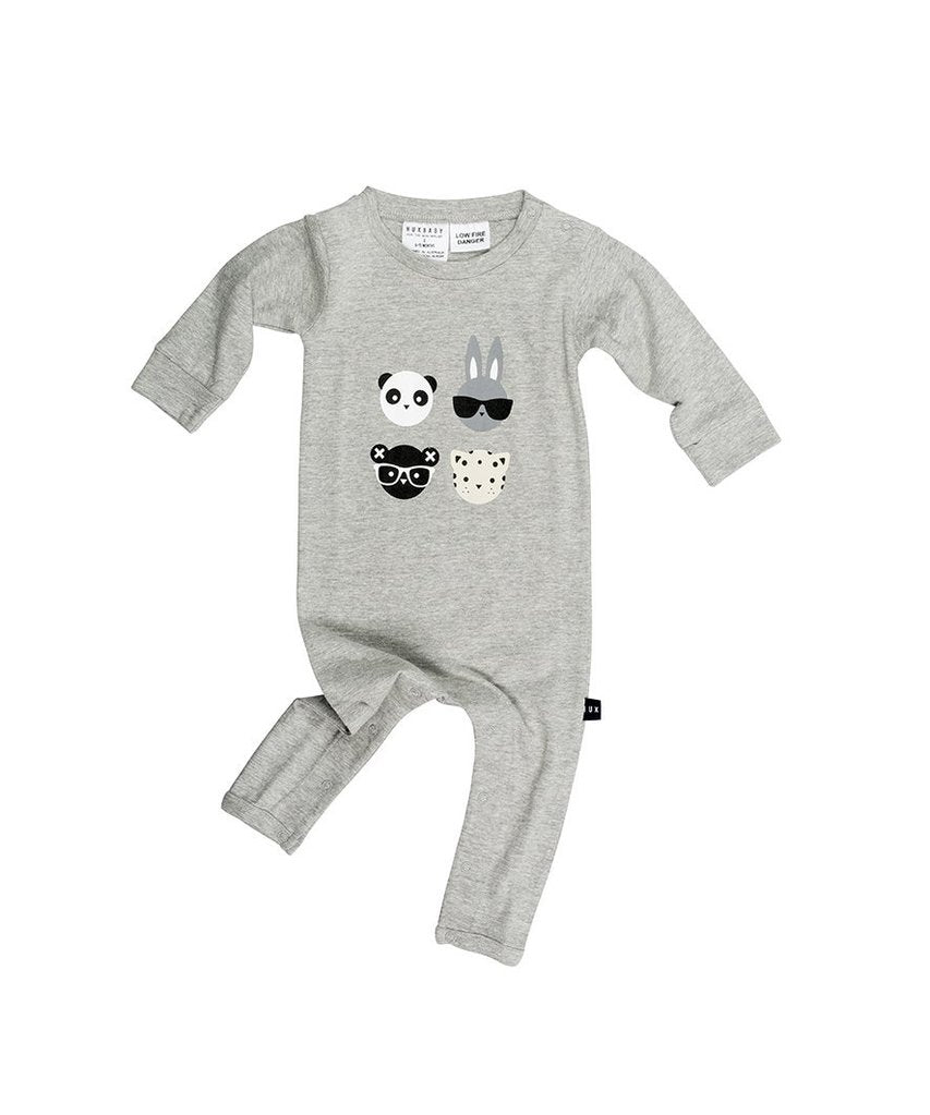 Huxbaby 4 Long Romper Grey Marle