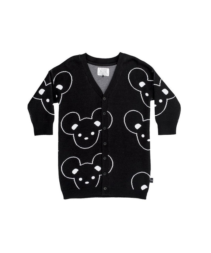 Huxbaby Mouse Knit Cardi Black