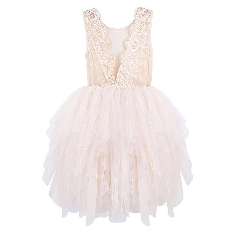 Designer Kidz Melody Tulle Dress (Beige)