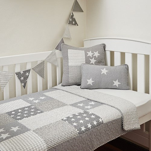 Lachlan Grey Cot Quilt