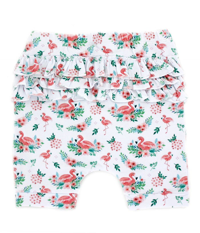 Little Circus Flamingo Ruffle Shorts