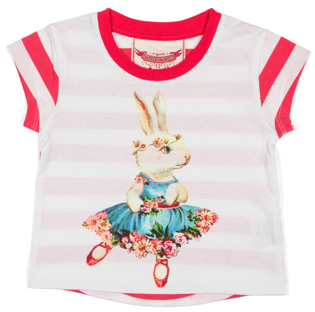 Little Wings Drop Shoulder Tee - Ballet Bunny