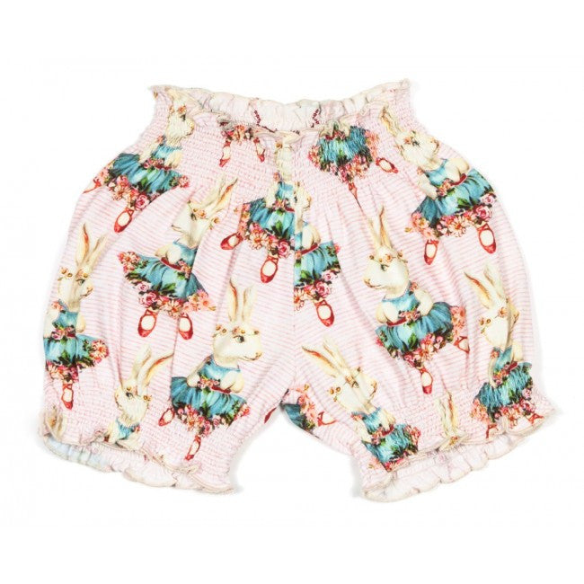Little Wings Shirred Bloomers - Ballet Bunny
