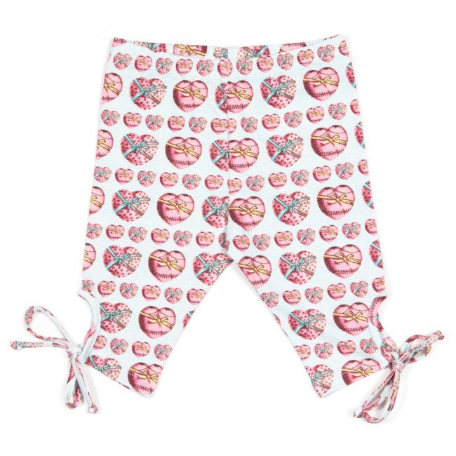 Little Wings Leggings with Ties - Heart Bows