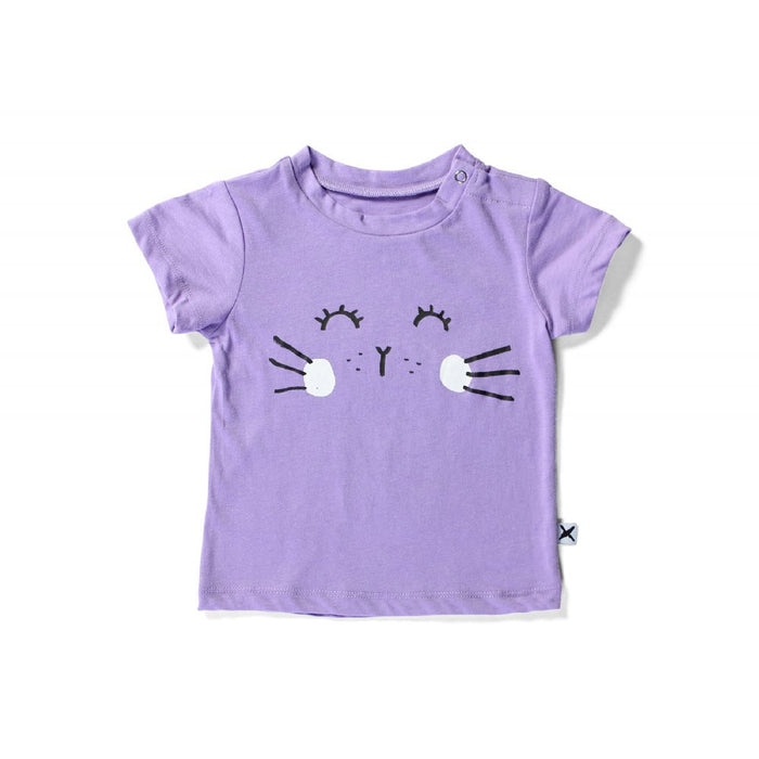 Bunny Face Domed Tee (Purple)