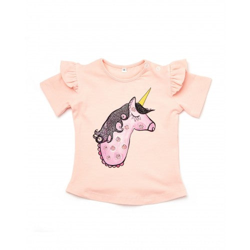 Walnut MS Lulu Frill Tee (Wilhemina Unicorn)