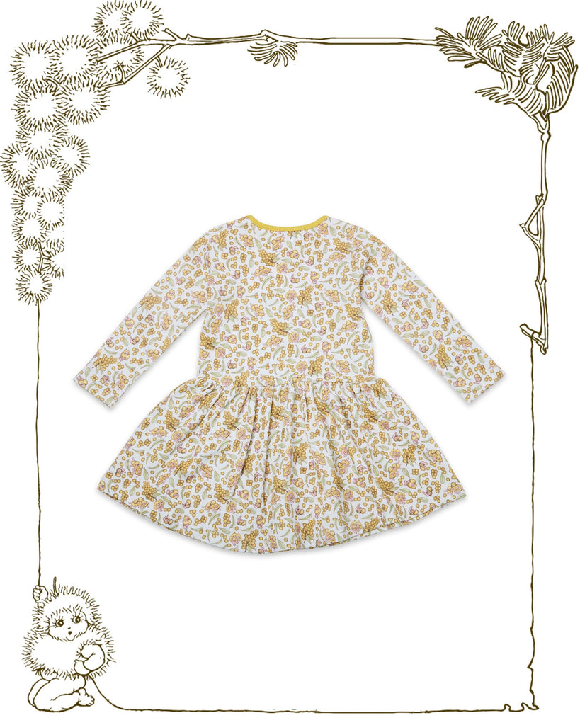 Walnut + May Gibbs Evie Dress (Wattle Baby)