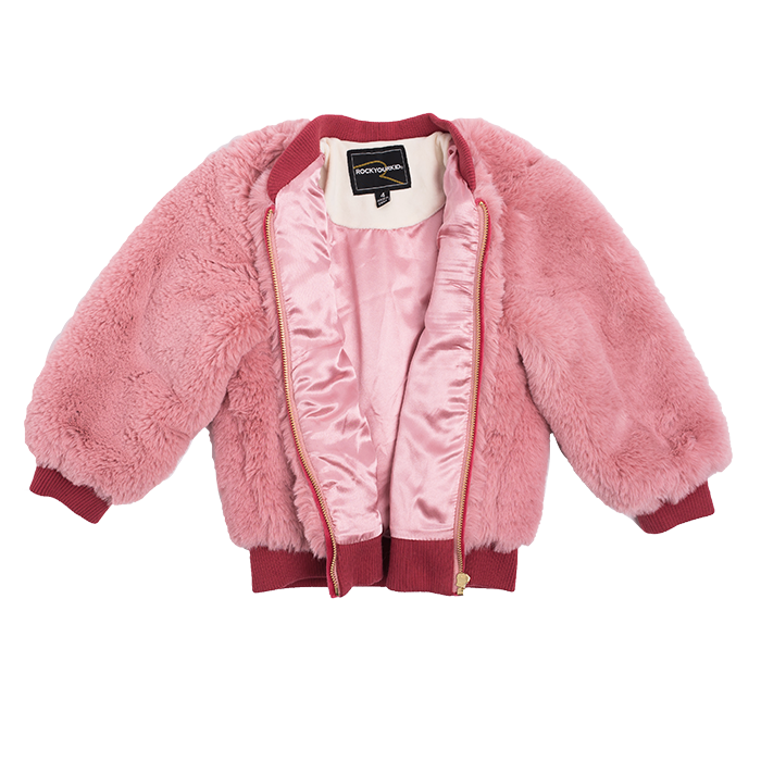 Rock Your Kid Bomber Jacket (Pink)
